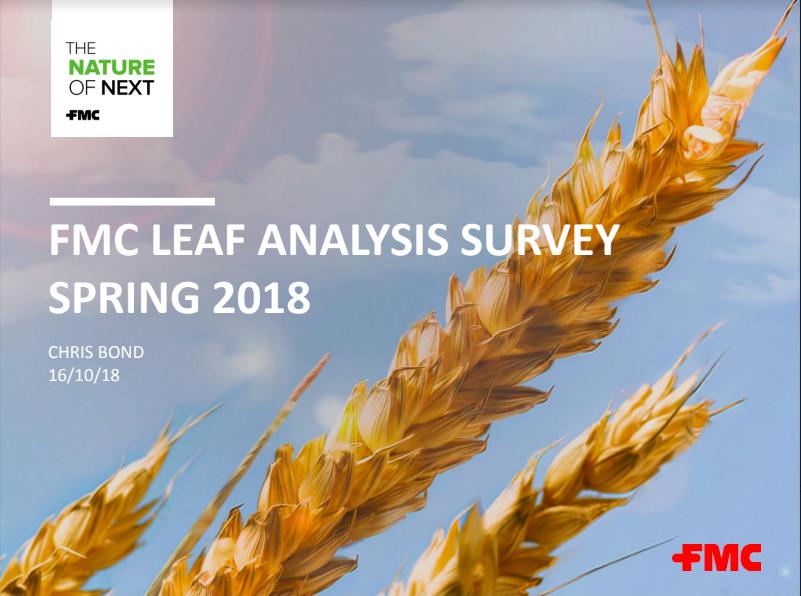 FMC LEAF ANALYSIS SURVEY SPRING 2018